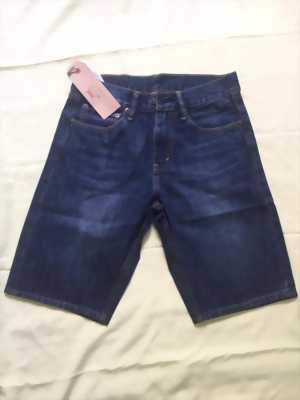 Quần jeans lửng Lvis 511, 514 nam xanh dương  đậm