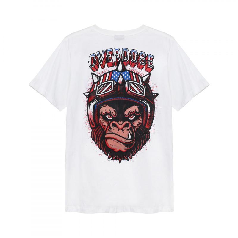 Áo thun Overdose Thái in 3D logo quái xế khỉ siêu quậy T0289