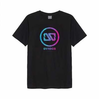 Áo thun Overdose in 3D vòng tròn logo OD chuyển màu xanh hồng T0315