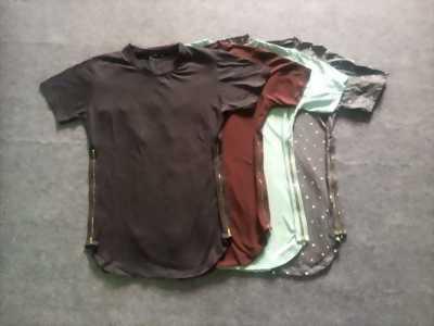 Áo phông zip khoá