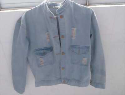 Áo khoác jean nữ xanh nhạt