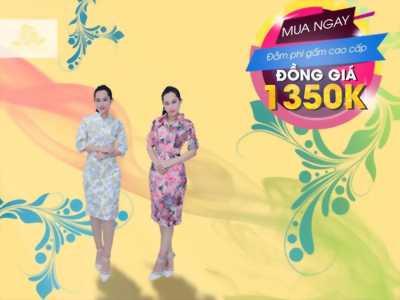 Đầm Phi Gấm Cao Cấp Ôm Dáng Sang Trọng Giá 900K