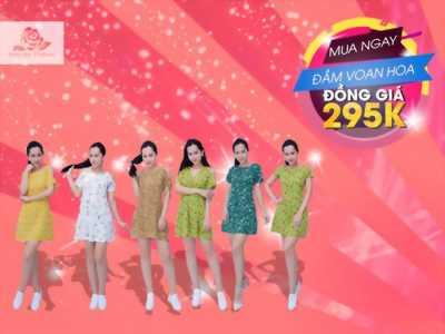 Đầm Voan Hoa Trẻ Trung Giá 170K