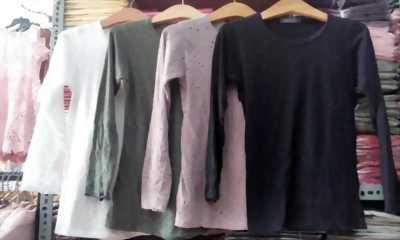 Áo cotton dài tay đục lỗ giá sỉ 15k