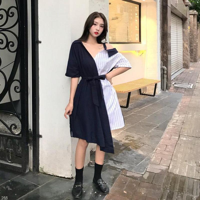 Váy Sơ Mi Trễ Vai