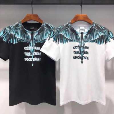 Áo thun in cánh chim xanh ngọc bích trên vai AT0057 thời trang cực hot