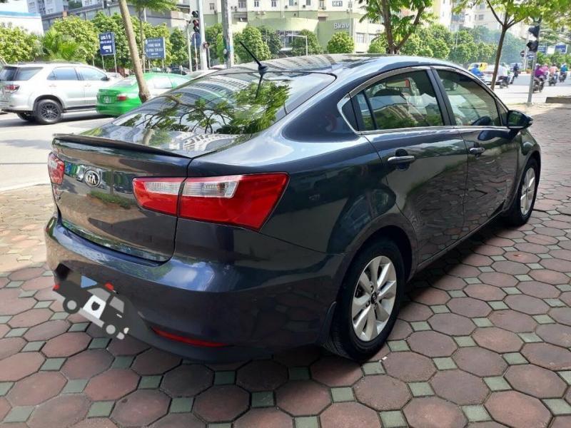bán xe Kia Rio 1.4AT 2016 màu xám titan nhập HQ