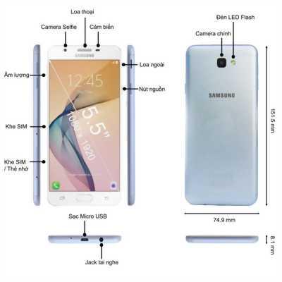 Samsung J7 prime đen bao zin như mới