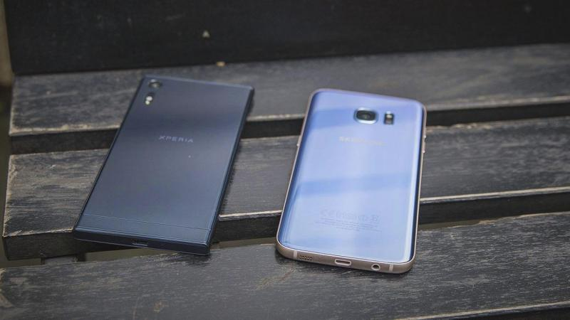 Samsung S7 Edge Xanh Coral dung lượng lớn zin áp