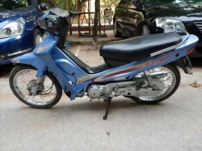 Xe máy Yamaha Sirius màu xanh.