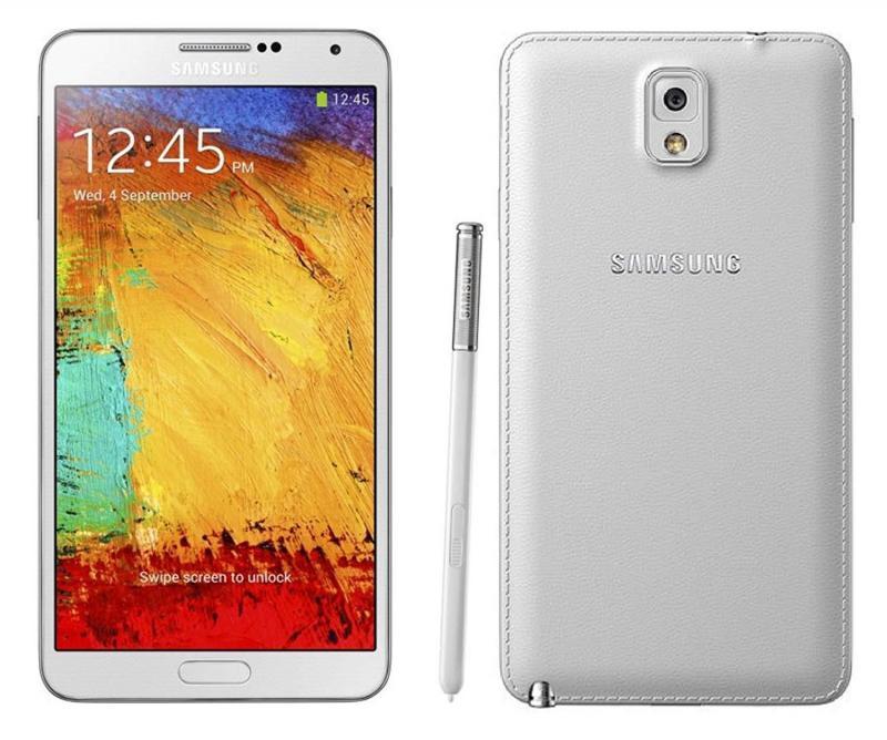 Samsung Galaxy Note 3 Trắng.Em gái đang dùng.
