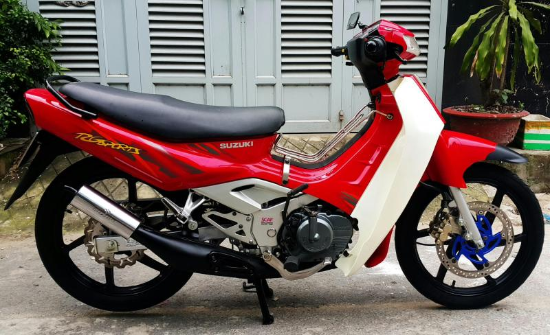 Suzuki Xipo 120 màu đỏ dọn mới leng keng quận 1