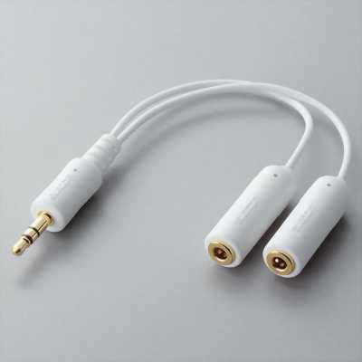 Cáp chia tai nghe 1 đầu cực 3.5MM ra 2 chân 3.5MM