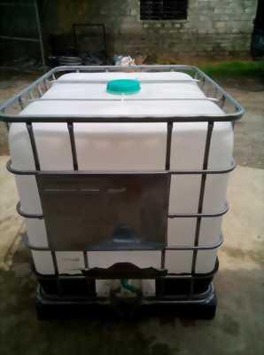 Tank nhựa ibc 1000lit,téc nhựa 1 khối,bồn chứa 1000lit màu trắng