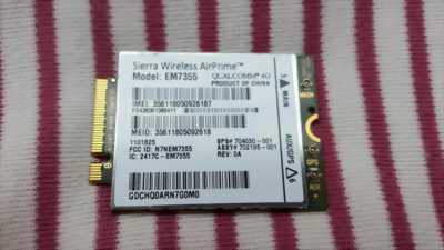 HP LT4111- GOBI5000 Sierra EM7355 - WWAN Support