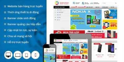 Website bán hàng giao diện đẹp, giá rẻ