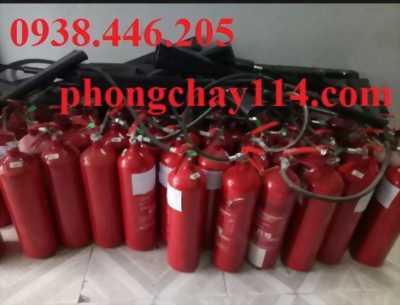 Bơm nạp sạc bình chữa cháy bao gồm bình co2 và bình bột