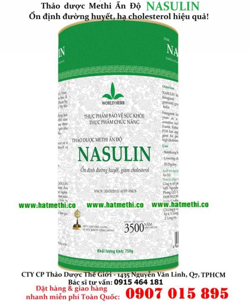 Hạt Methi Nasulin - thảo dược số 1 trị tiểu đường & cao mỡ máu