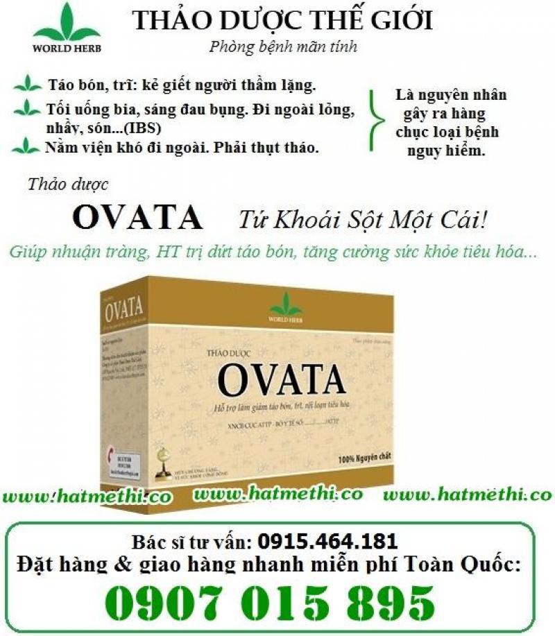 Vỏ hạt mã đề OVATA - thảo dược số 1 trị táo bón & bệnh trĩ