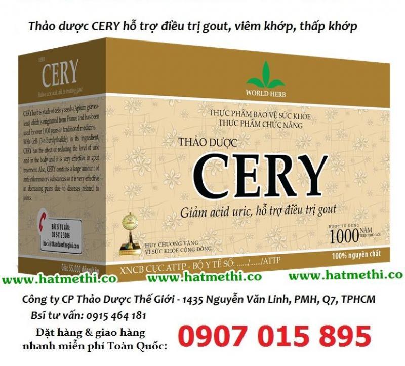 CERY - thảo dược số 1 điều trị bệnh gút & viêm thấp khớp