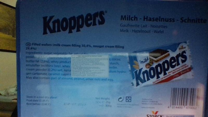 Bánh KNOPPERS pháp nhập khẩu nước ngoài