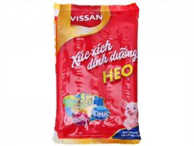 xúc xích heo vissan 175g 1 thùng 20 gói ( 400.000 VND )