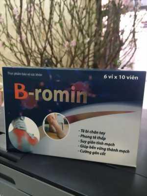 B-ROMIN HỖ TRỢ ĐIỀU TRỊ SUY GIÃN TĨNH MẠCH, TÊ BÌ CHÂN TAY