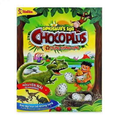Kẹo chocoplus trứng khủng long  38gr