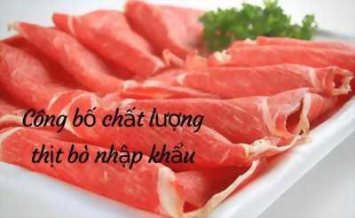 Chi tiết thủ tục công bố tiêu chuẩn chất lượng thịt bò nhập