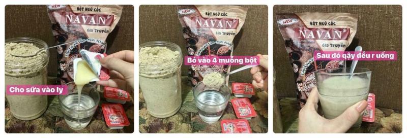 Bột ngũ cốc 7 vị NAVAN gia truyền
