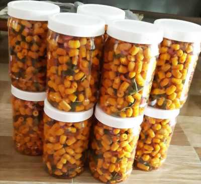 Hủ 300gr Nui sấy lắc khô bò lá chanh ớt thơm ngon hấp dẫn - Food by Mama