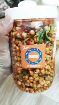 Hủ 300gr Bắp sấy vị xá xíu lắc khô bò xé lá chanh ớt thơm ngon hấp dẫn - Food by Mama