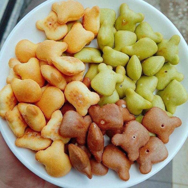 Gói 500gr Bánh hình gấu nhân Bơ Sữa Phô Mai thơm ngon hấp dẫn - Food by Mama