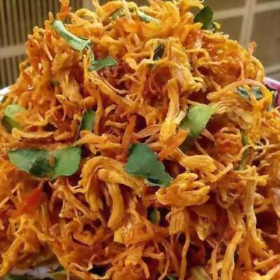 Bịch 500gr Khô gà rô ti sấy giòn với lá chanh, ớt thơm ngon hấp dẫn - Food by Mama