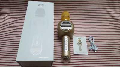 Micro Karaoke M8 (Màu vàng),âm thanh hay