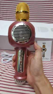 Micro Karaoke M8 - 2 loa lớn, âm thanh cực hay, có đèn led