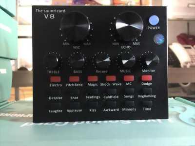 Sound Card thu âm Live V8 bản tiếng Anh, giá 650K cái