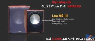 Loa Sub Arirang AS III Bass 30cm, công suất 200W, Giảm giá 10%