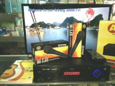 Đầu Arirang Karaoke 3600KTV khuyến mãi 2 micro AR-3.6 chính hãng