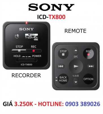 Máy ghi âm Sony ICD-TX800 thu phát nghe cực rõ