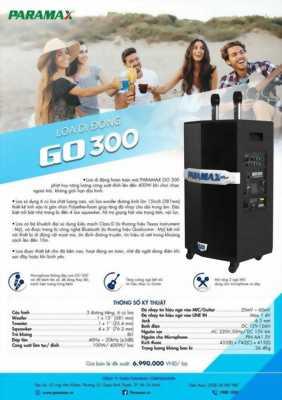 Loa kéo di động paramax PRO-GO 300 KM 1 Đầu Karaoke Hi-end Paramax LS-3000