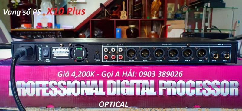Vang số X10 Plus hỗ trợ Optical, Rec out, chống hú 4 cấp độ