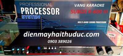 Vang karaoke Subos K-600 III tích hợp chống hú, optical, bluetooth.