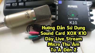 Bộ mic thu âm K10 và V8 xuân lộc.