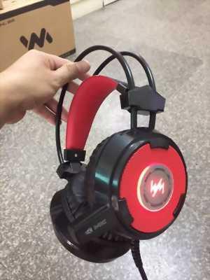Tai nghe game netWangming8900 đen đỏ chính hãng