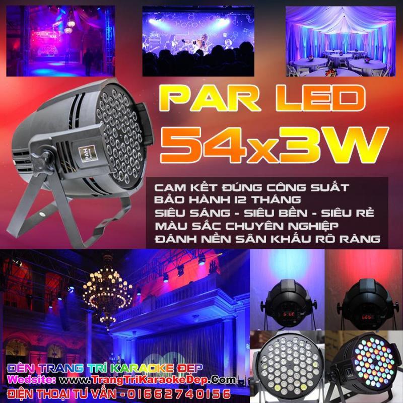 Đèn Pha LED Sân Khấu 54x3w - freeship HCM