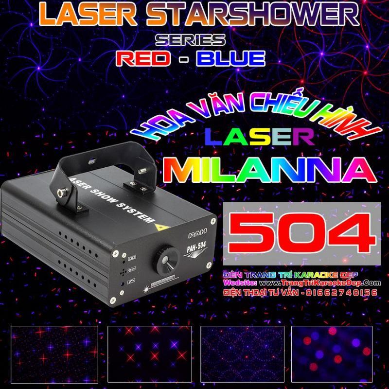 Đèn Laser Nháy Theo Nhạc Chiếu Hình MILANNA 504