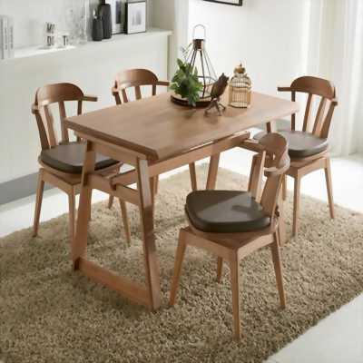 bộ bàn ghế ăn mới 95%, giá chỉ 50% mua mới