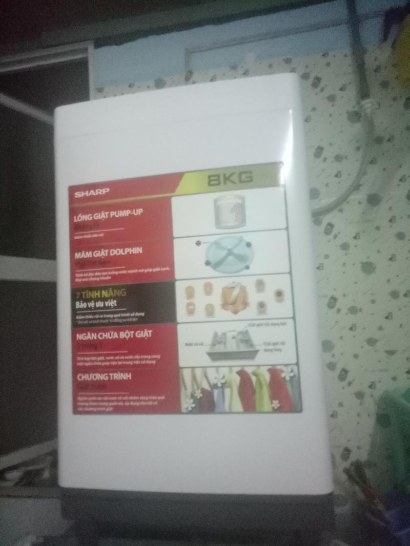Máy giặt sharp đời mới bao zin,  bảo hành hơn 8 tháng