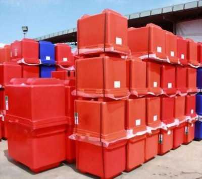 Thùng đá 100L, thùng đá có 2 chân, thùng giữ lạnh hải sản công nghiệp.